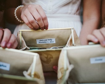 Bridesmaid Clutch Personalization Only