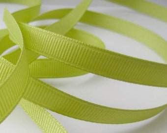 "Pistachio Green Ribbon, Avacado Green Ribbon,  Green Grosgrain Ribbon, Wholesale Ribbon, Apple Green Ribbon, Grosgrain Ribbon, 3/8"", 5 yards"