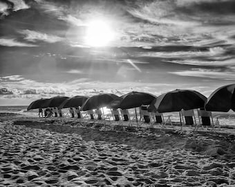 Beach Umbrellas in Myrtle Beach, South Carolina - Fine Art Photograph 5x7 8x10 11x14 16x20 24x30