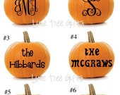 Personalized PUMPKIN Decals - Halloween Decorations