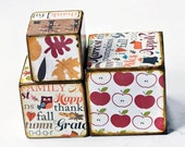 Thanksgiving  Decorative wooden blocks Give Thanks