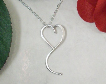 Brenda's Heart Sterling Silver Heart Necklace, partial proceeds go to American Cancer Society