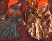 "Gandalf And Saruman 8x10"" Print"