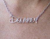 Disney Style Name Necklace, Wire Wrap Custom Name, Personalized Name, Girls Name, Personalized Gifts for Girls, Jewelry Gifts Under 20