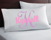 Personalized Pillow Case with Name and Initial