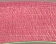 "1.5""  Pink Denim Ribbon, 5 Yards or 10 Yard Lengths Available, Deco Mesh Supplies"