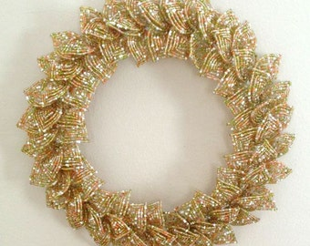 Citrus Blend French Beaded Decorative Wreath (Small)