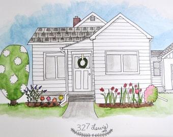 Custom Whimsical Home Portrait