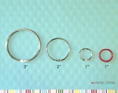 Washi Tape Storage Hoop Ring . 3 Inch Book Binder O Rings Silver Bindery Hinges . Hinged Book Ring Large Mini Album Filofax Planner Kikki K