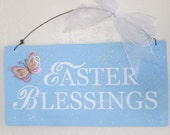 Wooden Easter Blessings Sign - Easter Sign - Easter Decoration