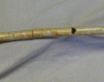 """Birch Branch Curtain Rod White Knotty Birch Wood 61 1/2"""""""