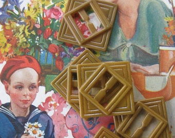 New Old Stock Celluloid Buckles...art deco pattern...1920...lot of 10