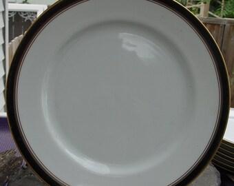 Vintage Royal Prestige Nocturne 4401 Elegant Fine Bone China Dinner Plates
