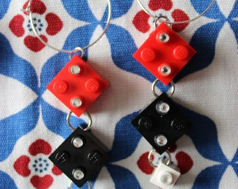 Harley Quinn Lego Earrings