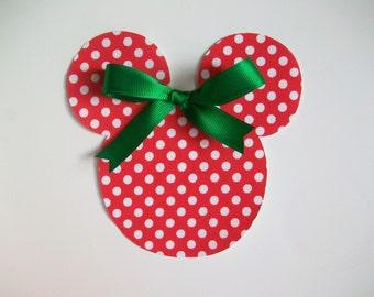 Christmas DIY Iron On Mickey Mouse Fabric Applique - Iron On