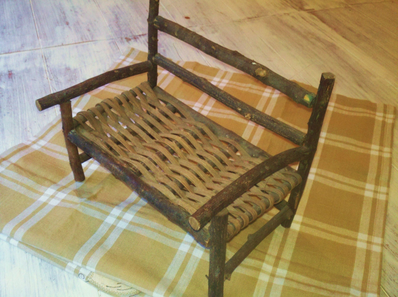 Twig Furniture BenchMiniature Adirondack Doll By RagtagStudio