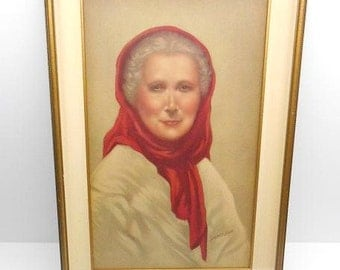 Old Woman of Capri Framed Print by Sydney Bell