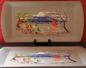 4 Kentley Oriental Trays, Vintage 1950s Paper Lithograph Lap Trays RESERVED FOR MARY