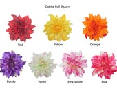 Dahlia Full Bloom Flower Hair Clip 4.75 Inches.  Choose color