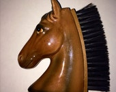 Vintage Ceramic Horse Head Brush