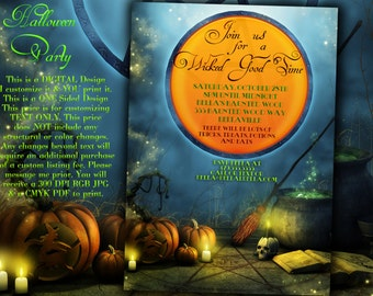 Halloween Invitations, Halloween Party Invitations