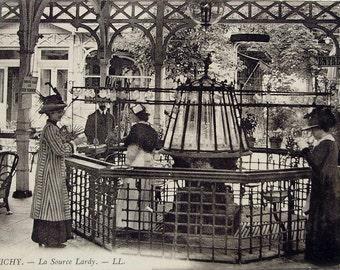 Vintage French Postcard - La Source Lardy, Vichy, France