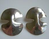 Robert Lee Morris Silver Modernist Earrings