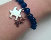 Autism Awareness Puzzle Piece HOPE Bracelet