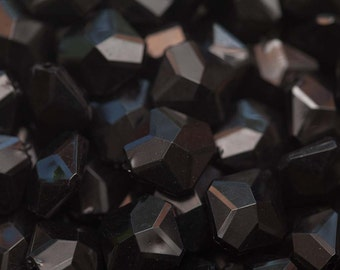 Bulk Wholesale Black Rhombus Beads 350 pieces 19mm x 18mm- Chunky Necklace Beads