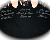 3 I'm the Bridesmaid Bitches Tank Top. I'm Getting Married Bitches Tank Top. Bachelorette Shirts. Funny Drinking Shirts. Bachelorette Tank.