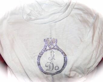 I do hoodie / Bride White Hoodie / Bride To Be Zip Sweatshirt / Bridal Shower Gift / Bridal Party Hoodie / Wedding Party / Long Sleeve