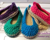 NEW Pattern Crochet Baby Espadrille Wedge Shoe - Instant Download