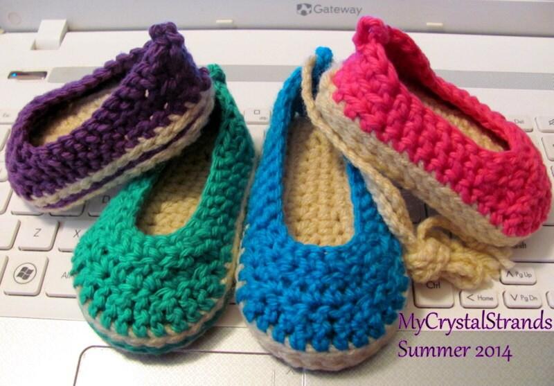 NEW Pattern Crochet Baby Espadrille Wedge Shoe Instant