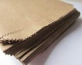 """50 Kraft Brown Paper Bags Flat 5 x 7 1/2 - Candy Buffet - Medium 5 x 7.5"""" - Small Flatware Packaging - 5x7 Favor / Treat / Merchandise Sack"""