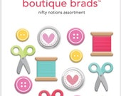 Nifty Notions Assortment Boutique Brads #2682 by Doodlebug
