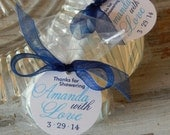 """Bridal or Baby Shower Thank You Favor Tags - For Cake Pops - Lollipops - Party Favors - Cookies - (50) 1.5"""" Personalized Printed Favor Tags"""