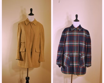 Reversible 1960s Womens Jacket - Large Women's Spring Coat