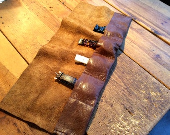 Leather watch roll travel case, Unique gifts for travelers, Leather watch roll, Mens travel gifts, Custom watch holder, Fathers day gifts
