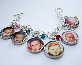 Custom Personalized Photo Jewelry Charm Bracelet
