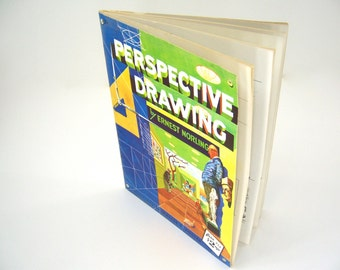 Mid Centry Vintage art book, How to Draw, Perspective Drawing, illustration instruction guide artistic inspiration for boys girls men women.