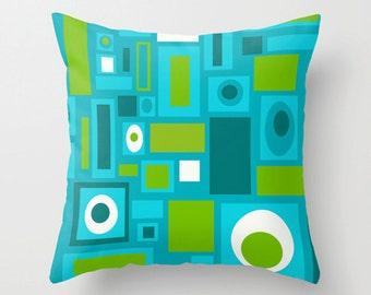 Modern Outdoor Pillow, Outdoor Pillow, Cool Outdoor Pillow, Geometric Outdoor Pillow, Mid Century Modern Outdoor Pillow, Outdoor Pillow