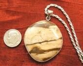 SALE - Picture Jasper Necklace - Handmade Picture Jasper Stone Pendant NK-40