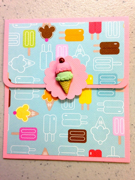 Ice Cream Gift Card Holder Ice Cream Popsicle Gift Card