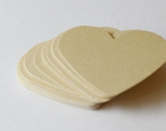 Gold Die Cut Hearts, Gold Confetti for Wedding Reception or Party, 50 Medium Sized Hearts, Paper Hearts