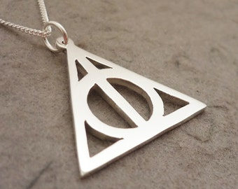 Deathly Hallows Sterling Silver Handmade Symbol Pendant