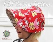 Vintage Bonnet Sewing Pattern, S138 Joyce Ann, Digital Hat Sewing Pattern, Infant-Adult Sizes, Spring Bonnet, Winter Cap Sewing Pattern