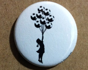 "1"" Button Set - Banksy Soccer Set (3 Pins Total)"