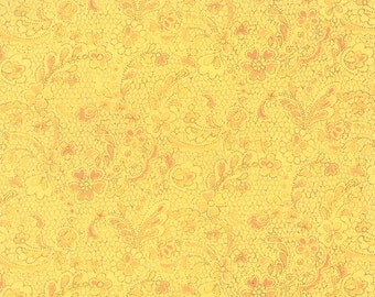 Lulu - Lacey in Sunshine by Chez Moi for Moda Fabrics