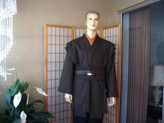 Star Wars Jedi Knight Dark Brown 5 Piece Costume Sz. XL Tall Handmade