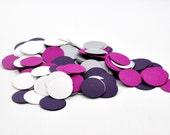 CLEARANCE - Elegant Purple Wedding Confetti Decoration Birthday Party Decor -  Wedding Toss Confetti - Table Decor - Purple Wedding Decor